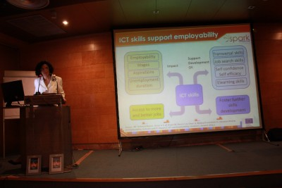 Clara Centeno (IPTS) speaking at Spark 2013 on ICT skills and employability