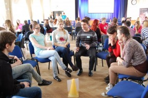 Career day for young people in Estonia introducing many career choices in ICT