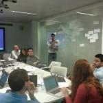 Bastian Pelka from TUDO facilitating the terminology session at the meeting