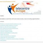 Telecentre Europe October 2016 newsletter